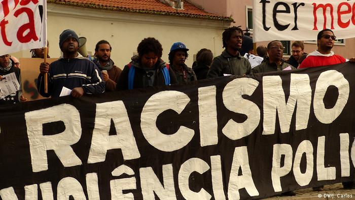 Protesto em fevereiro de 2015 contra o racismo e a violência policial