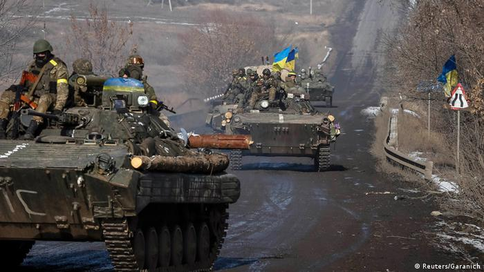 Einheiten der ukrainischen Armee in der Ostukraine
