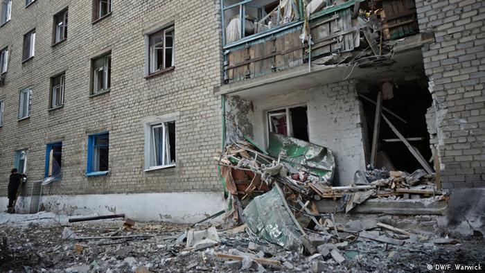 Destroyed building in Ukraine (Photo: Filip Warwick)