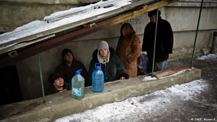 Sheltering in basement