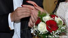 Auf dem Bild: Heirat in Tadschikistan. Foto: Galim Fashutdinov / DW in Duschanbe am 12.02.2015