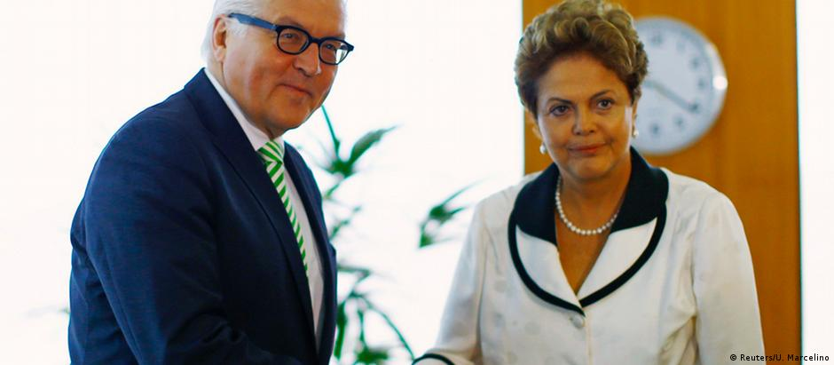 Dilma Rousseff e Steinmeier se encontraram em Brasília, na semana passada