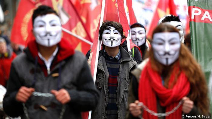 Protest gegen Bildungspolitik der AKP in Istanbul, Türkei