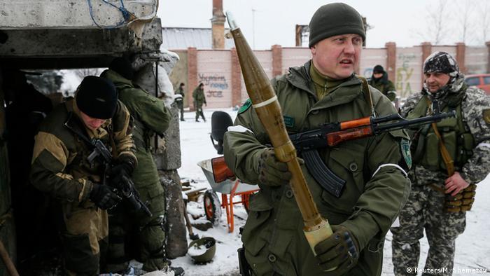 Пророссийские сепаратисты на востоке Украины