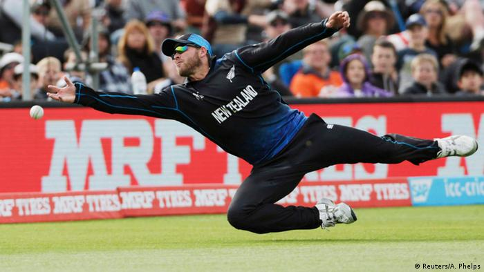 New Zealand fielder during Cricket World Cup in Christchurch