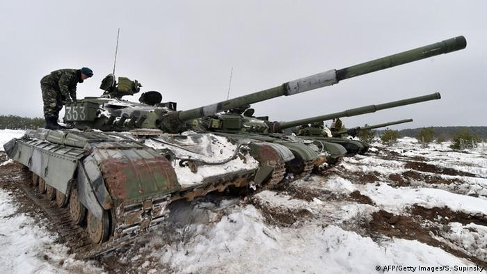Panzer der ukrainischen Armee im Schnee (archiv: Getty Images)
