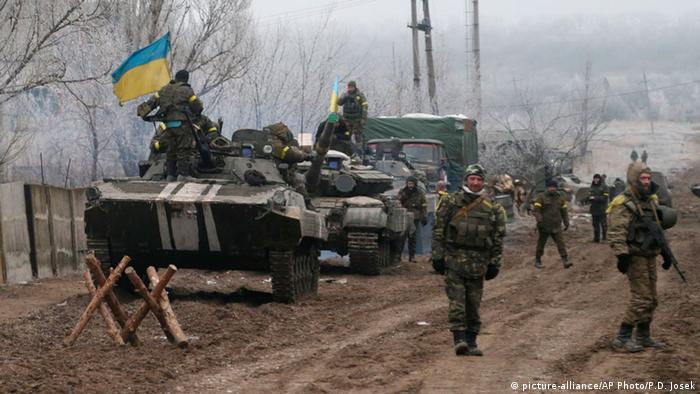 Ukrainische Soldaten in der Ostukraine (Foto: AP Photo/Petr David Josek)