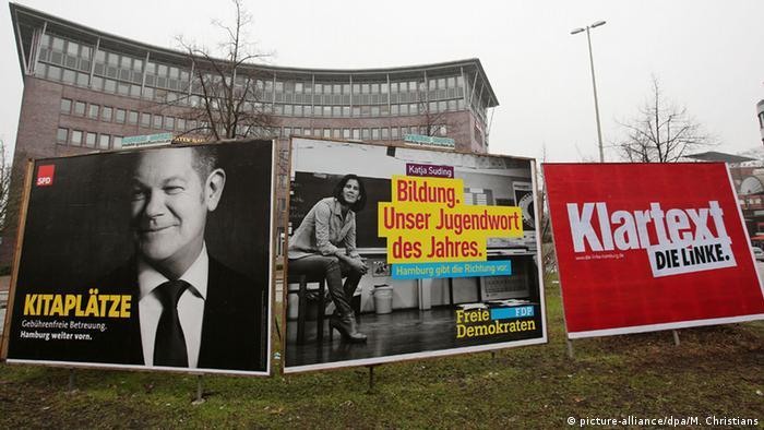 Hamburg election placards