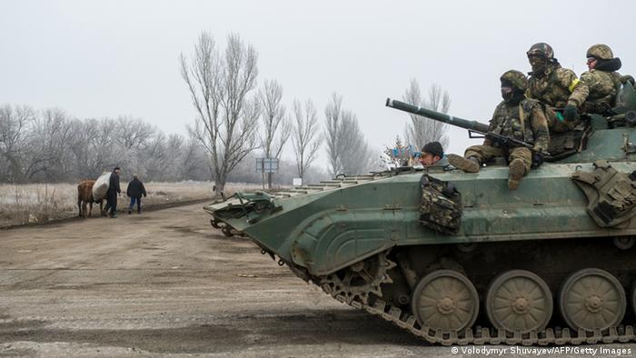 Ukraine Kämpfe Armee Donezk