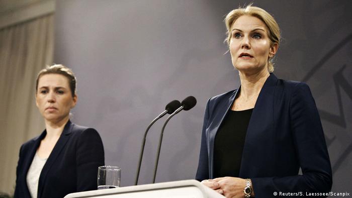 Thorning-Schmidt în timpul conferinței de presă