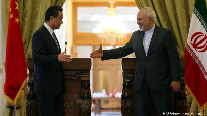 Iran Wang Yi und Mohammed Dschawad Sarif Pressekonferenz in Teheran