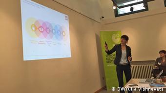 Η Κριστίνα Χουν, υπεύθυνη του προγράμματος κατάρτισης της Ακαδημίας Κοινωνικής επιχειρηματικότητας του Μονάχου