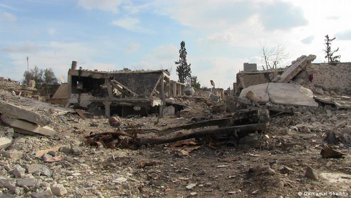 Blick auf das zerstörte Kobane im Februar 2015 (Foto: DW)