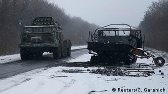 Украинская военная техника под Дебальцево, февраль 2015 года