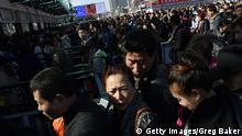 Peking China Ansturm Lunar Neujahrsfest Frühlingsfest
