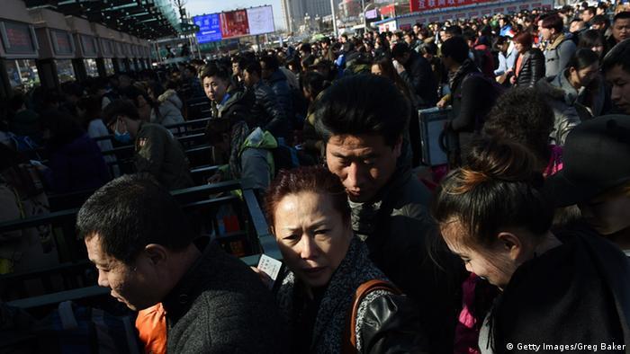 Peking China Ansturm Lunar Neujahrsfest Frühlingsfest (Getty Images/Greg Baker)