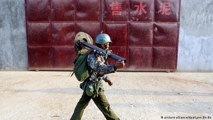 Myanmar Soldat Kokang Rebellen