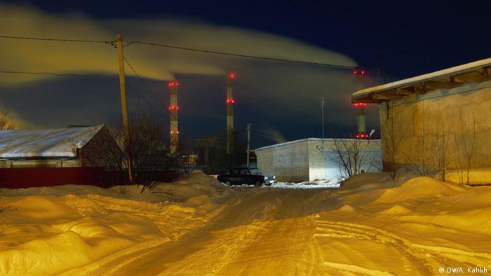 Ночное фото завода