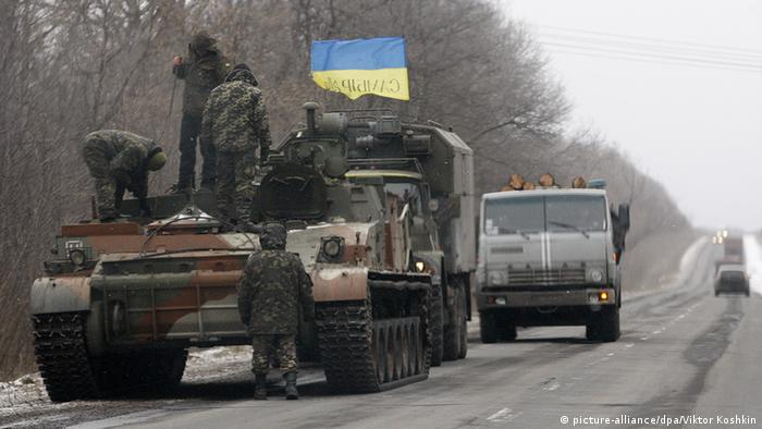 Ukraine Soldaten Abzug Symbolbild ukrainische Soldaten