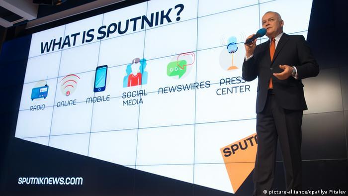 Дмитрий Киселев на презентации агентства Sputnik