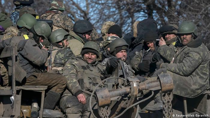 Ukraine Abzug ukrainische Soldaten Debalzewe