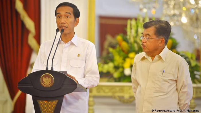 Widodo e o vice Kalla argumentam com o direito do país de seguir a própria lei