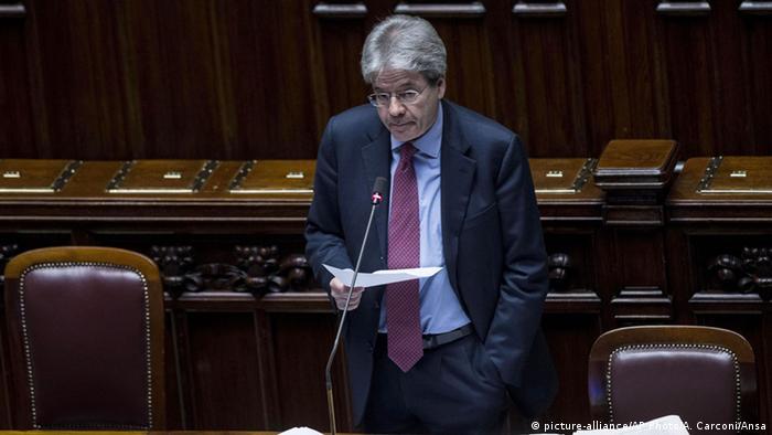 Italien Paolo Gentiloni Rede im Parlament zur Libyen Krise