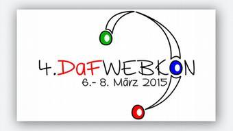 Das Logo der DaFWEBKON 2015, der 4. Webkonferenz für Deutsch als Fremd- und Zweitsprache
