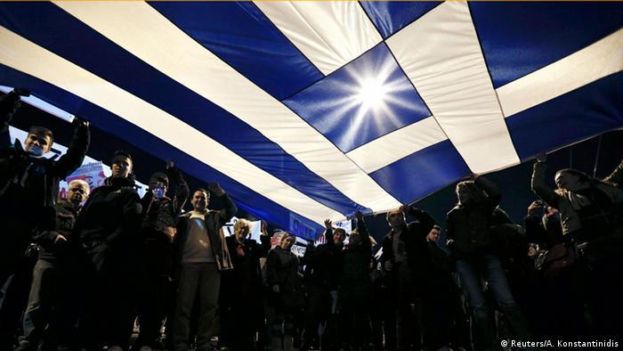Griechenland Flagge Bürger Symbolbild (Reuters/A. Konstantinidis)