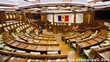 Moldawien Chisinau Parlament leer