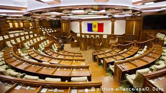 Зал заседаний парламента Молдовы