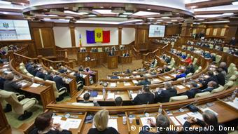 A general view of Moldova's Parliament