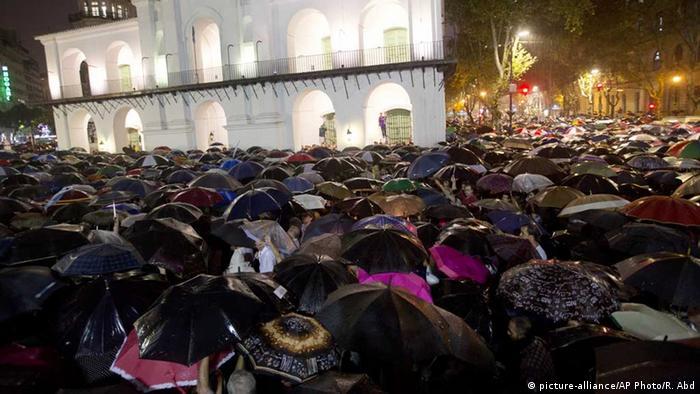 Protest în masă la Buenos Aires