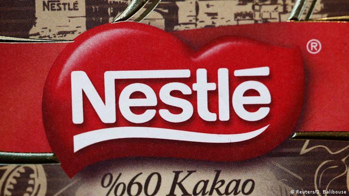 Gambar simbol logo Nestle (Reuters/D. Balibouse)