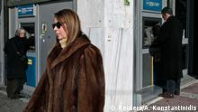 Geldautomaten vor der Griechischen Nationalbank