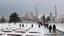 Schnee in Istanbul