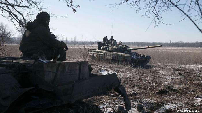 Ukraine Seperatisten in der Nähe von Debalzewe