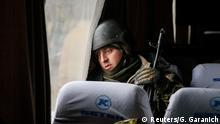 Ukraine Soldaten nach dem Abzug aus Debalzewe