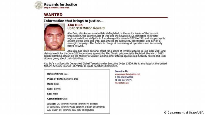 Bildergalerie zum ARD Special über Abu Bakr al-Baghdadi IS Anführer