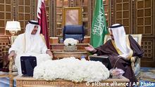 Treffen zwischen Tamim bin Hamad Al-Thani und Salman in Riad