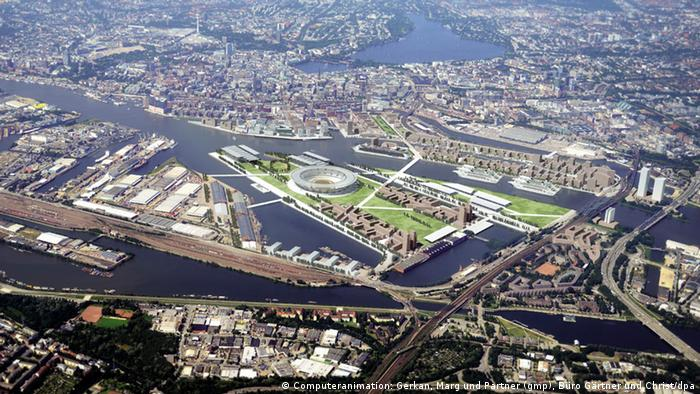 Planned Hamburg Olympic village