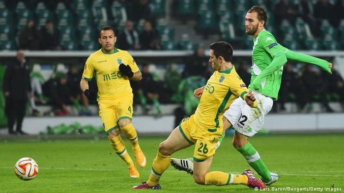 UEFA Europa League Sporting Lissabon vs Wolfsburg Dost Tor