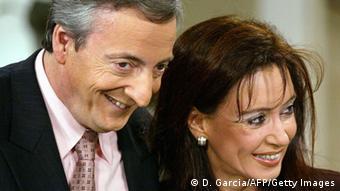 La dupla presidencial, Néstor y Cristina Kirchner.