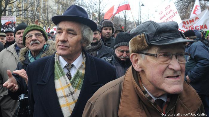 Polen Warschau Bauernproteste