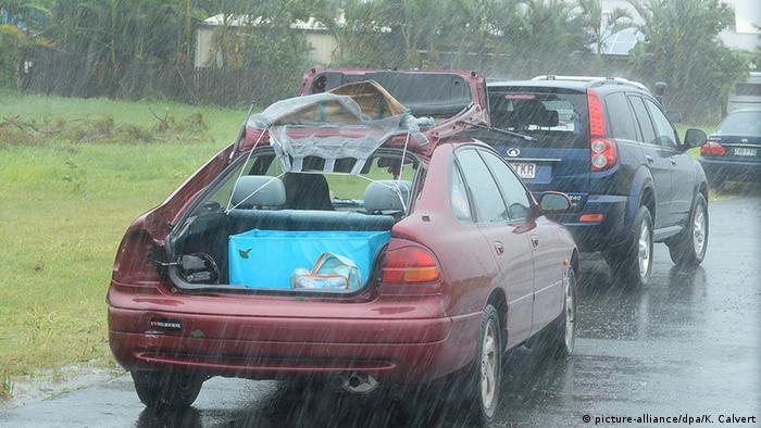 Australien Wetter Zyklon Marcia hat Bundesstaat Queensland erreicht