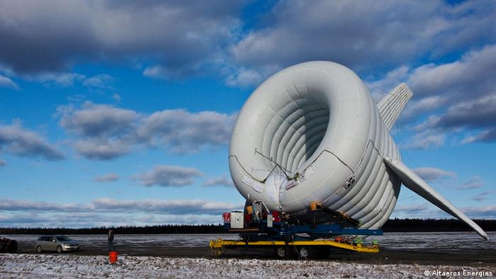 Ballon-Windrad der Firma Altaeros Energies