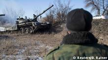 Ukraine Separatisten Panzer bei Donetzk