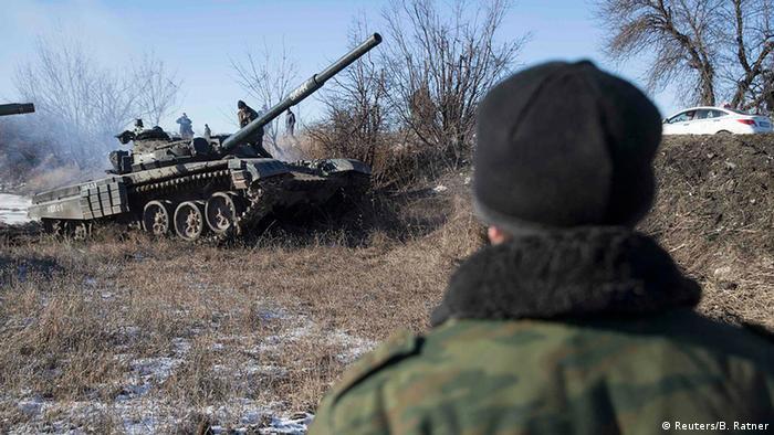 Танк сепаратистов вблизи Донецка