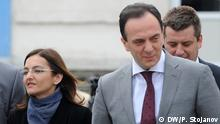 Sasho Mijalkov, Geheimdienstchef Mazedoniens. Auf dem Bild mit der Innenministerin Gordana Jankulovska. Copyright: DW/Petr Stojanov