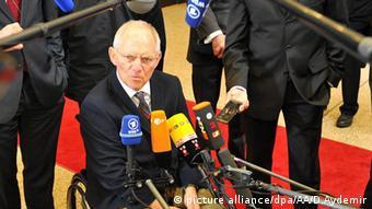 Teffen der Eurogruppen Finanzminster Wolfgang Schäuble